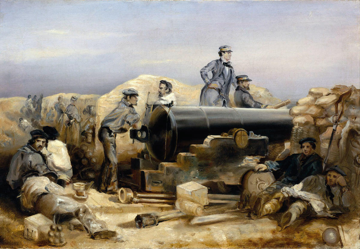 British Diamond Battery: Siege of Sevastopol September 1854 to September 1855 in the Crimean War