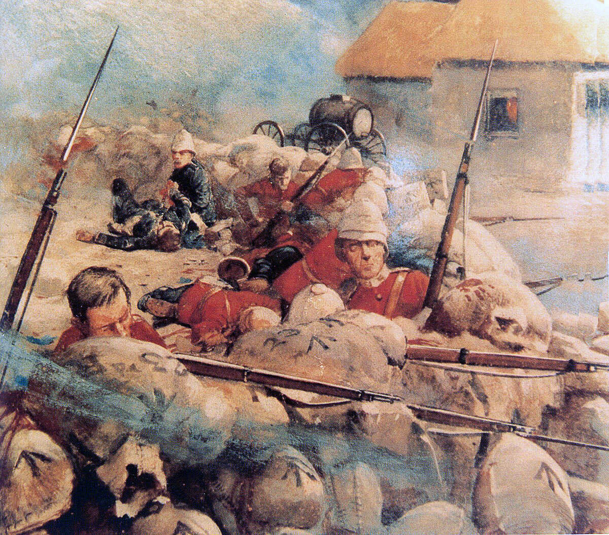Defence of Rorke's Drift on 22nd January 1879 in the Zulu War