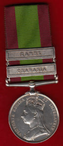 Second Afghan War Medal with clasps for Kabul and Charasia: Battle of Charasiab on 9th October 1879 in the Second Afghan War