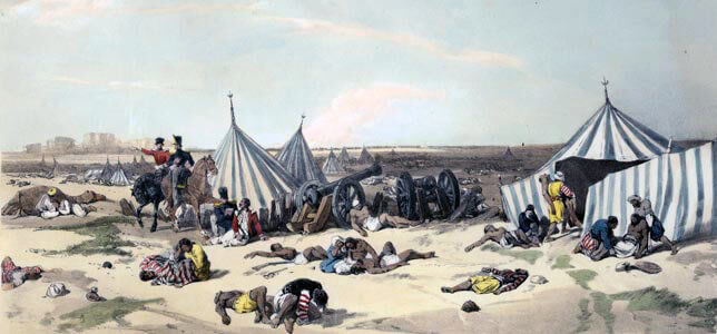 Sikh Camp after the Battle of Ferozeshah on 22nd December 1845 during the First Sikh War