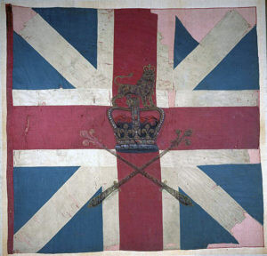 King's Colour of Barrell's King's Own Royal Regiment: Battle of Culloden 16th April 1746 in the Jacobite Rebellion