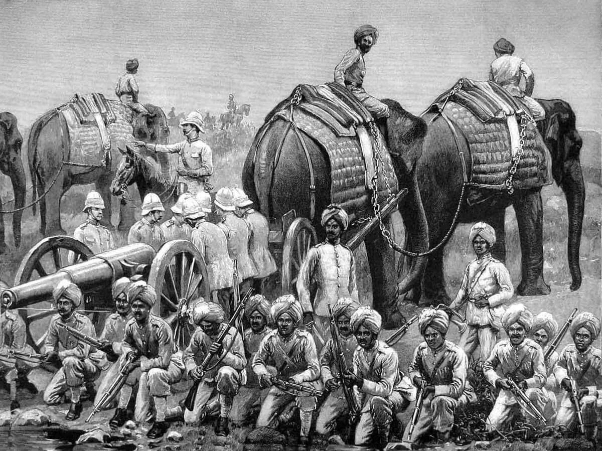 Royal Artillery Elephant Battery: Battle of Charasiab on 9th October 1879 in the Second Afghan War