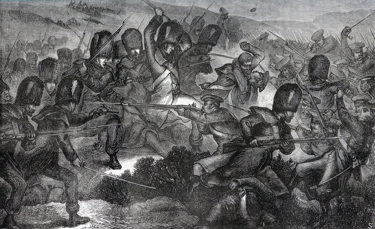 Grenadier Guards attacking at the Battle of Inkerman on 5th November 1854 in the Crimean War