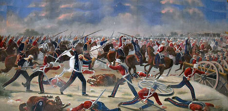 Battle of Moodkee on 18th December 1845 during the First Sikh War