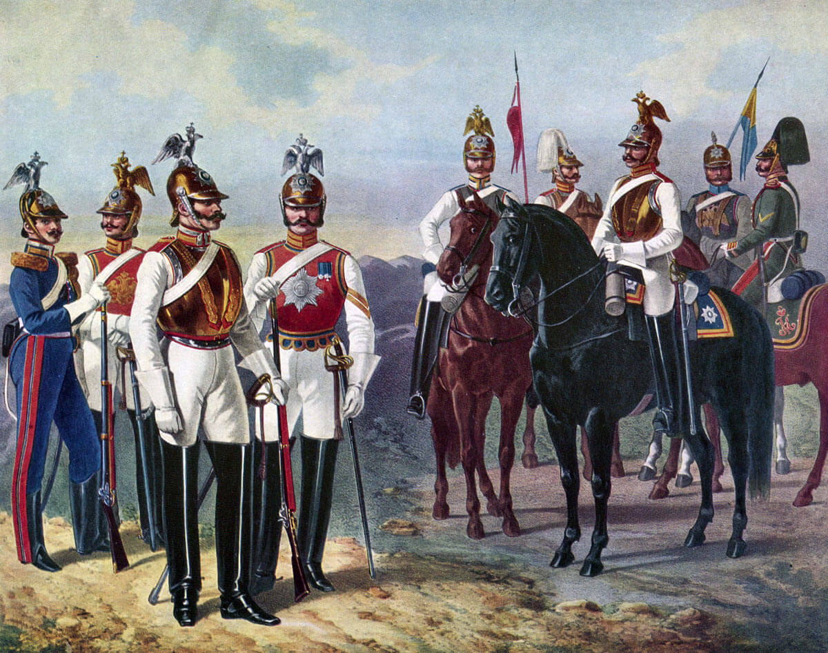 Russian Cuirassiers of the Guard: Battle of Balaclava on 25th October 1854 in the Crimean War