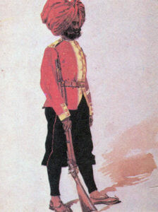 Sepoy of the 14th Sikhs: Battle of Ali Masjid on 21st November 1878 in the Second Afghan War