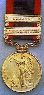Sutlej Campaign, 1845-6 Medal with clasp for the Battle of Ferozeshuhur on 22nd December 1845 during the First Sikh War