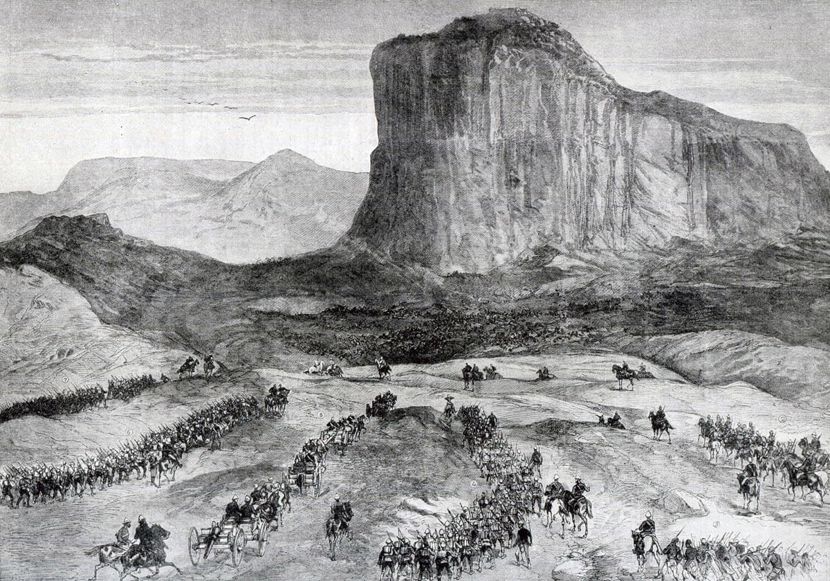 Arrival of Lord Chelmsford after the Battle of Isandlwana on 22nd January 1879 in the Zulu War