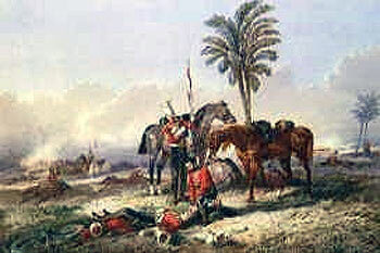 eath of Cornet Bigoe-Williams of HM 16th Lancers at the Battle of Aliwal on 28th January 1846 in the First Sikh War: picture by Orlando Norie