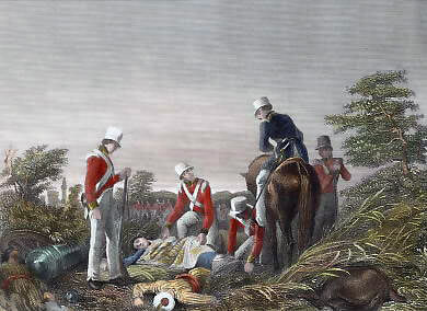 Finding the missing 24th Regiment's colour after the Battle of Chillianwallah on 13th January 1849 during the Second Sikh War