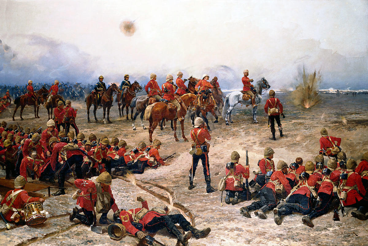 British Foot Guards at the Battle of Tel-el-Kebir on 13th September 1882 in the Egyptian War: picture by Alphonse de Neuville