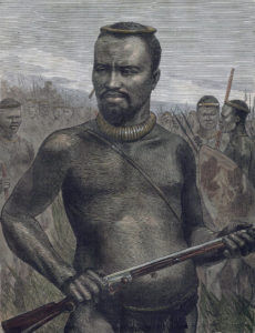 Prince Dabulamanzi kaMapande, Zulu commander at the Battle of Rorke's Drift on 22nd January 1879 in the Zulu War