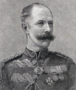 Major General Sir Herbert Stewart, British commander at the Battle of Abu Klea fought on 17th January 1884 in the Sudanese War: General Stewart was mortally wounded at Abu Kru on 19th January 1884