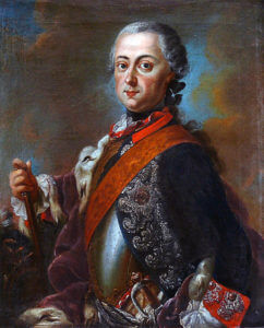 King Frederick II of Prussia known as 'Frederick the Great': Battle of Mollwitz fought on 10th April 1745 in the First Silesian War