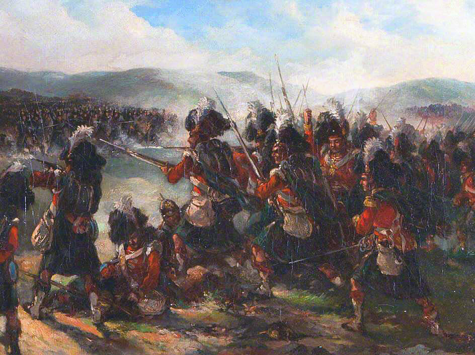 79th Highlanders at the Battle of the Alma on 20th September 1854 during the Crimean War