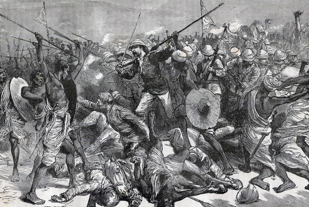 Death of Colonel Burnaby at the Battle of Abu Klea fought on 17th January 1884 in the Sudanese War