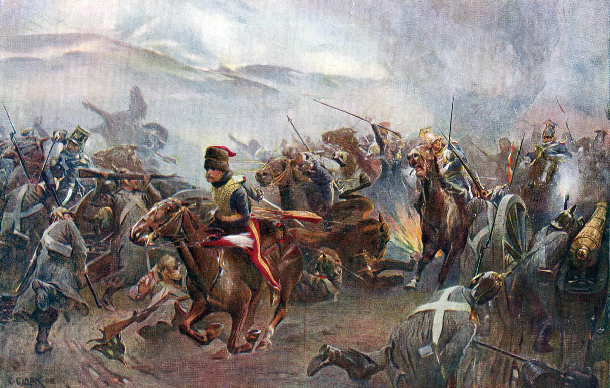Charge of the Light Brigade at the Battle of Balaclava on 25th October 1854 in the Crimean War: picture by Christopher Clark