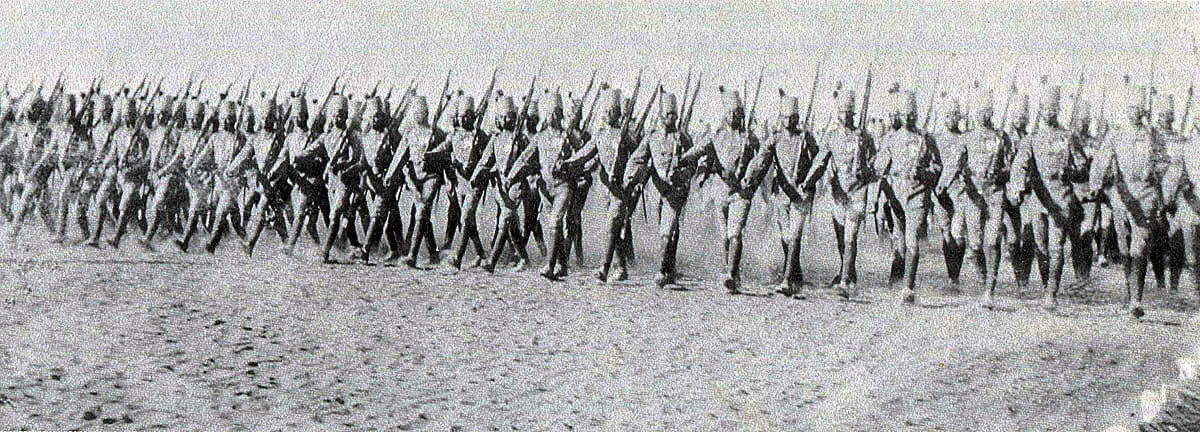 Sudanese Infantry of the Khedive's army: Battle of Atbara on 8th April 1898 in the Sudanese War