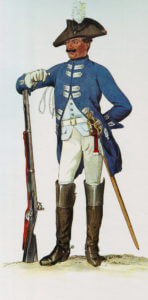 Prussian Dragoner-Regiment Holstein-Gottorp No 9: Battle of Kesselsdorf on 15th December 1747 in the Second Silesian War: picture by Adolph Menzel