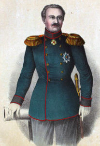 General Dannenberg, Russian commander at the Battle of Inkerman on 5th November 1854 in the Crimean War