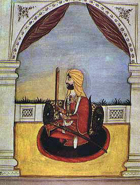 Ranjodh Singh, Sikh commander at the Battle of Aliwal, on 28th January 1846 in the First Sikh War