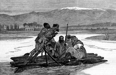 Crossing the Kabul River: Battle of Futtehabad on 2nd April 1879 in the Second Afghan War