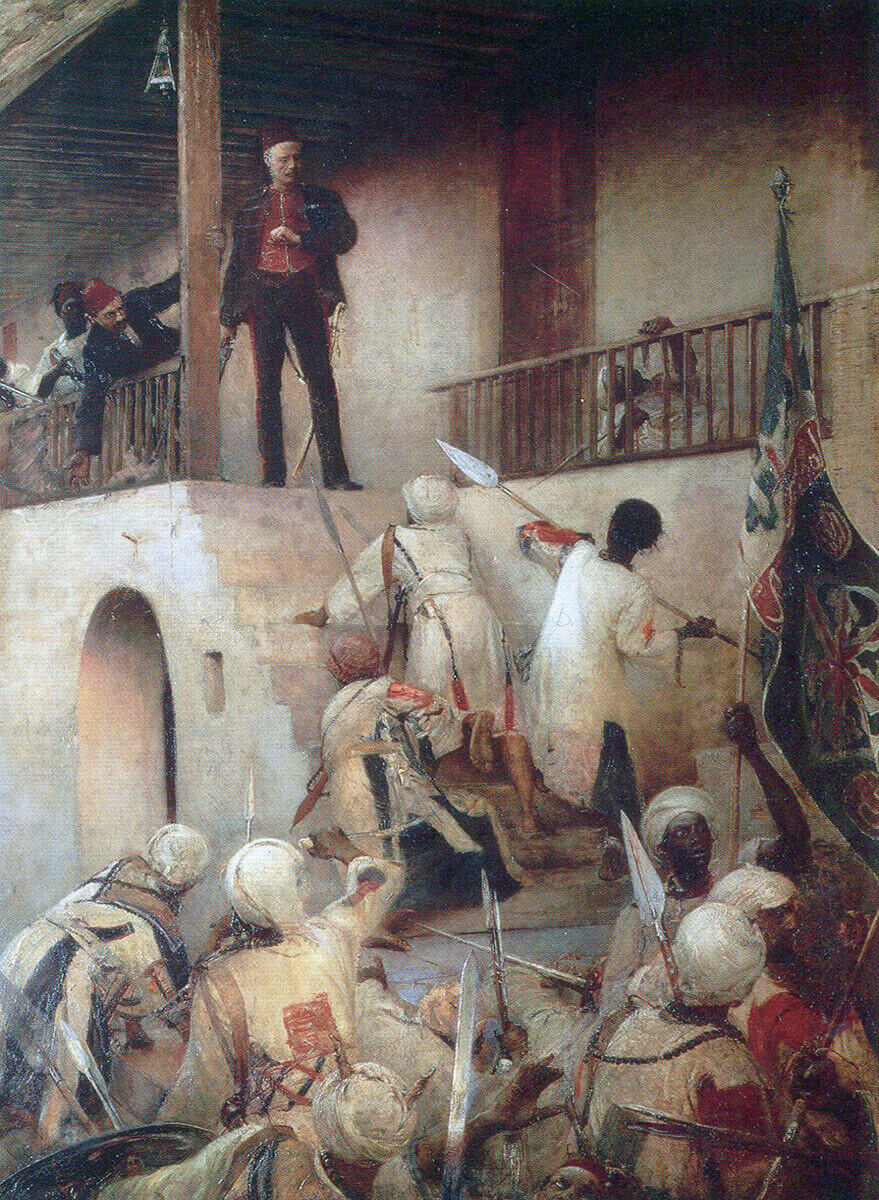 Death of General Charles Gordon on 26th January 1885 in Khartoum: Battle of Abu Klea on 17th September 1885 in the Sudanese War: picture by George William Joy