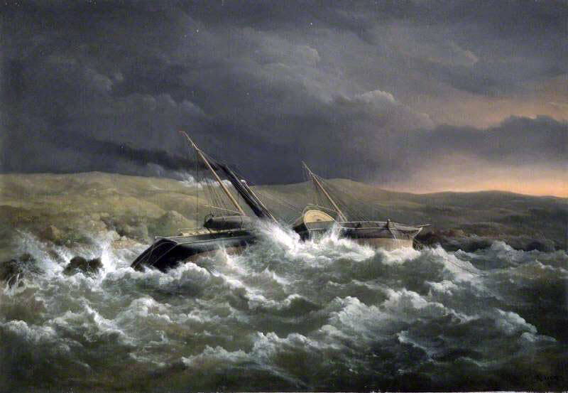 HMS Danube, wrecked in the storm on 14th November 1854 in the Crimean War