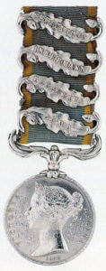 Crimean War Medal 1854 to 1856 with clasps for the Alma, Balaclava, Inkerman and Sevastopol
