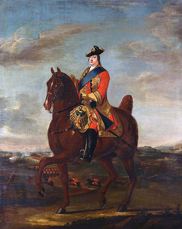 Duke of Cumberland: Battle of Culloden 16th April 1746 in the Jacobite Rebellion: picture by David Morier