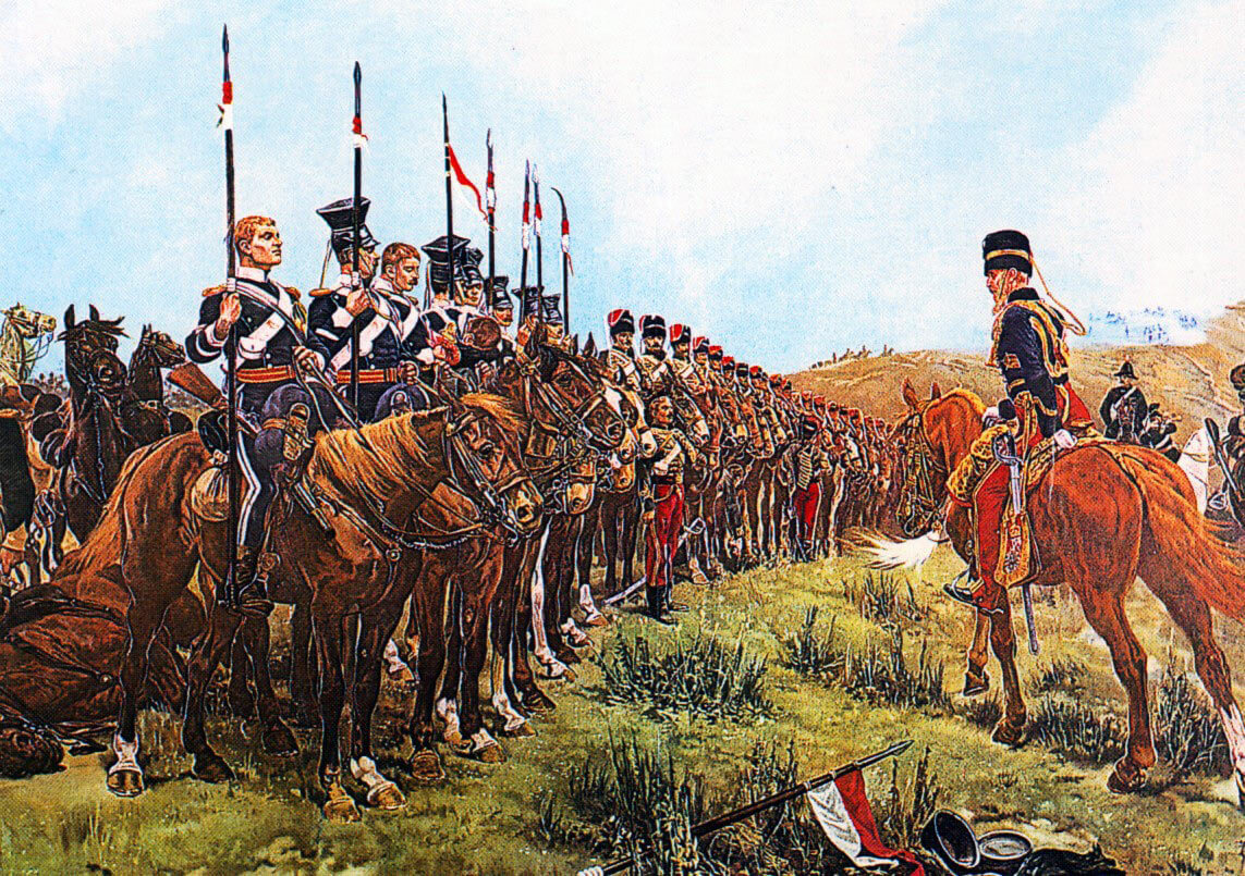 The Light Brigade after the Charge at the Battle of Balaclava on 25th October 1854 in the Crimean War: picture by Lady Butler