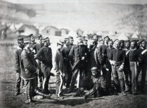 Soldiers of the 13th Light Dragoons: Battle of Balaclava on 25th October 1854 in the Crimean War: photograph by Fenton