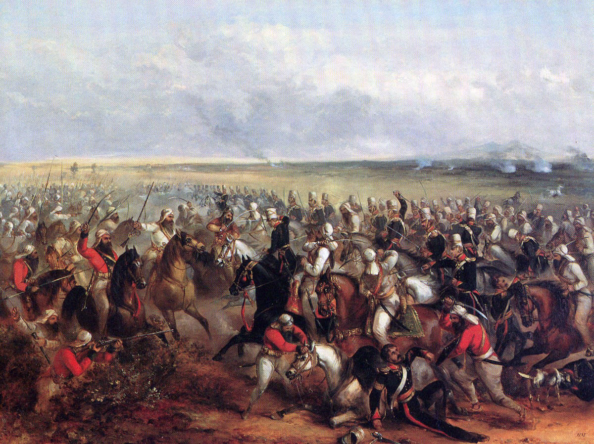 3rd King's Own Light Dragoons at the Battle of Chillianwallah on 13th January 1849 during the Second Sikh War