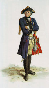 Prussian Füsilier-Regiment Alt-Württemberg No 46: Battle of Kesselsdorf on 15th December 1747 in the Second Silesian War: picture by Adolph Menzel