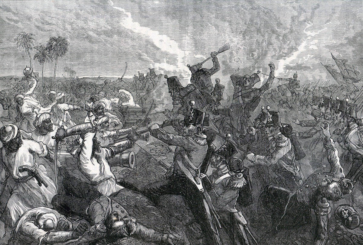 Battle of Ferozeshah on 22nd December 1845 during the First Sikh War