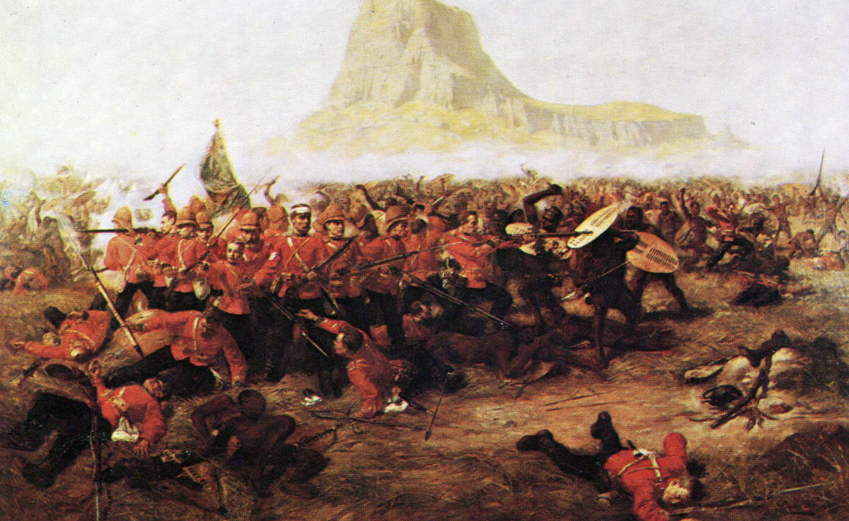 Battle of Isandlwana on 22nd January 1879 in the Zulu War: picture by Charles Edwin Fripp