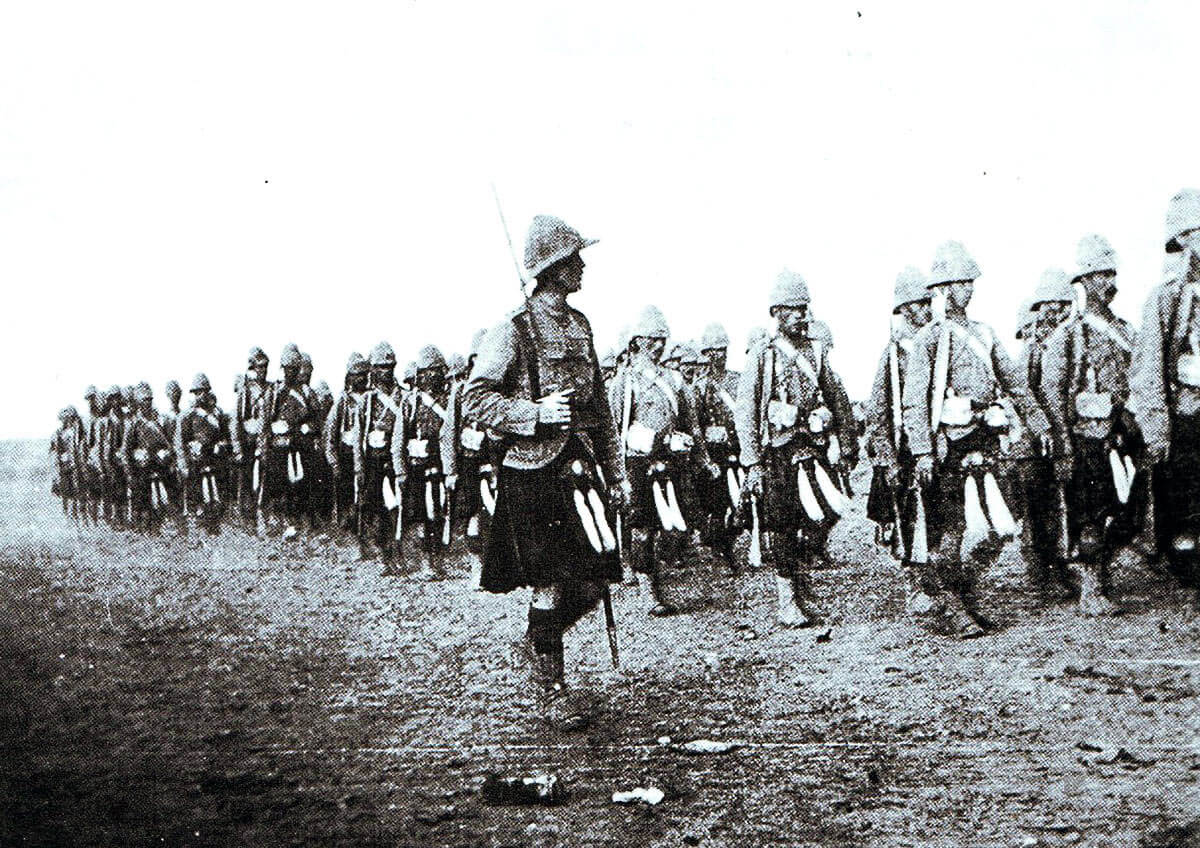 Captain McLean's company of 1st Queen's Own Cameron Highlanders: Battle of Atbara on 8th April 1898 in the Sudanese War