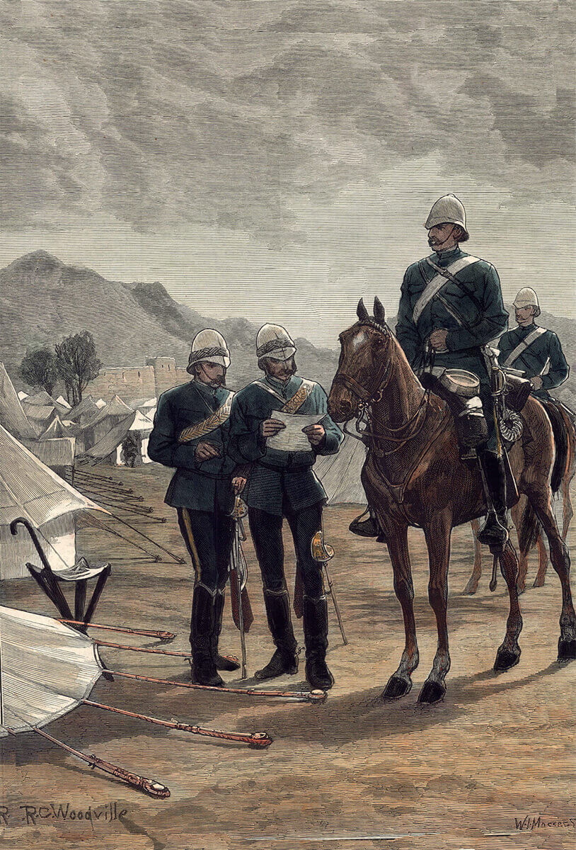 10th Hussars: Battle of Futtehabad on 2nd April 1879 in the Second Afghan War: picture by Richard Caton Woodville