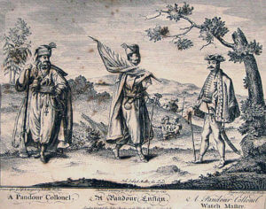 Pandour, Pandour ensign and colonel: Battle of Soor 30th September 1745 in the Second Silesian War