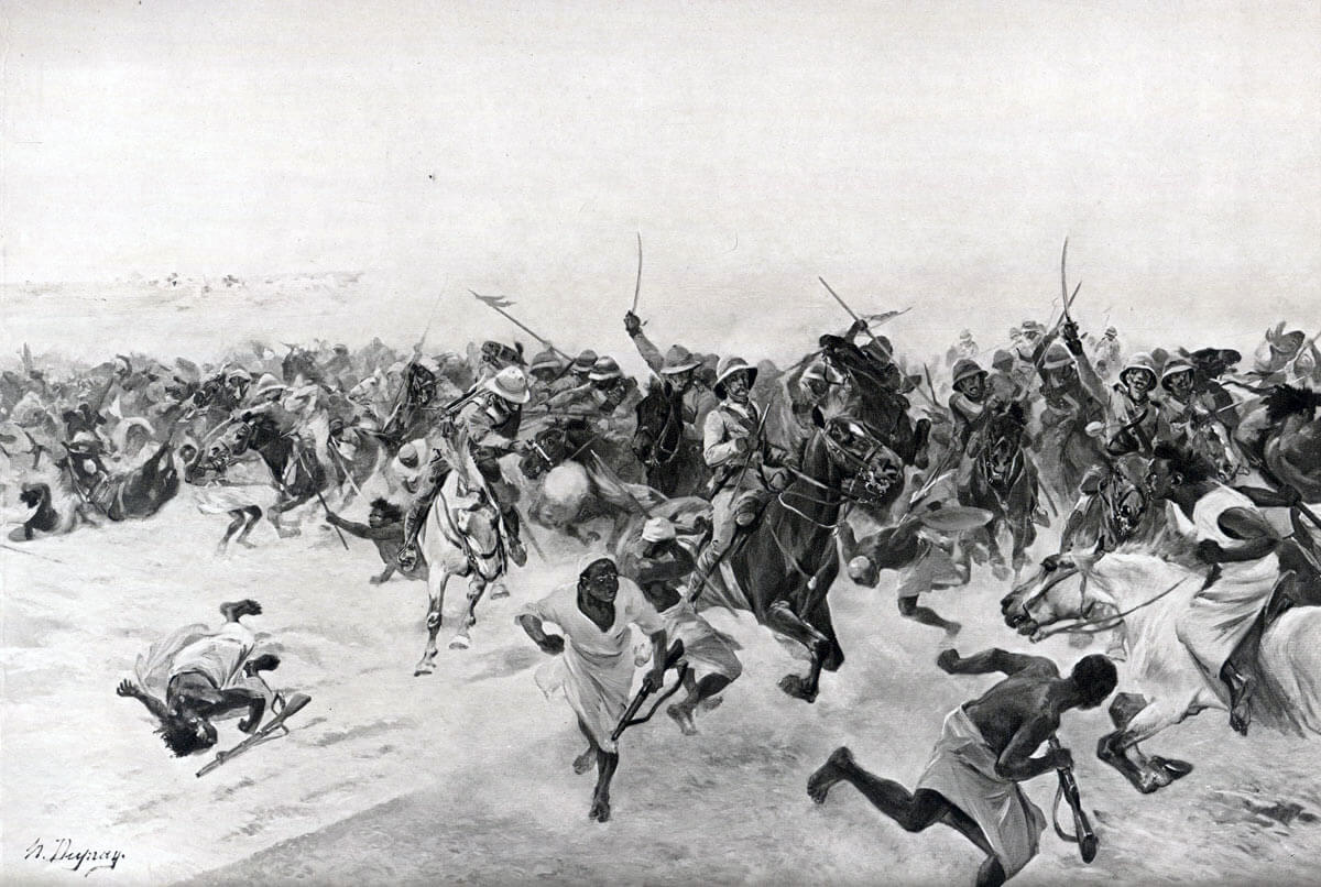 harge of the 21st Lancers at the Battle of Omdurman on 2nd September 1898 in the Sudanese War: picture by Henri Dupray