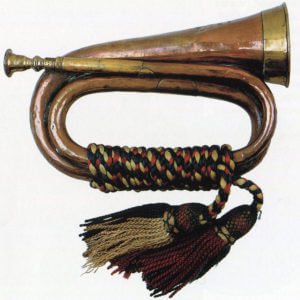 Bugle that sounded the Charge of the Heavy Brigade at the Battle of Balaclava on 25th October 1854 in the Crimean War