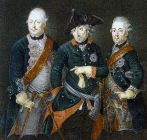 Frederick the Great with Prince Moritz: Battle of Chotusitz 17th May 1742 in the First Silesian War