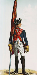 Prussian Infantry Regiment von Winterfeldt No 1 (the regiment lost 22 officers and 1,168 men in the battle): Battle of Prague, 6th May 1757 in the Seven Years War picture by Adolph Menzel