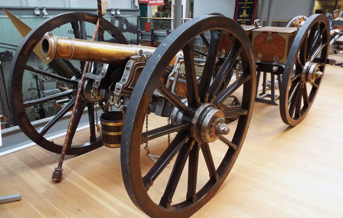 East India Company 9 pounder field gun: Battle of Ferozeshah on 22nd December 1845 during the First Sikh War: Firepower Museum