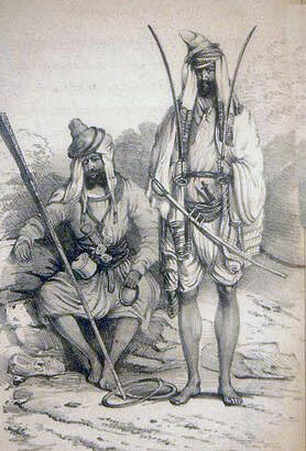 Sikh warriors: Battle of Ramnagar on 22nd November 1848 during the Second Sikh War