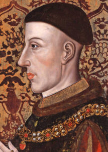 King Henry V of England, the victor of Battle of Agincourt on 25th October 1415 in the Hundred Years War