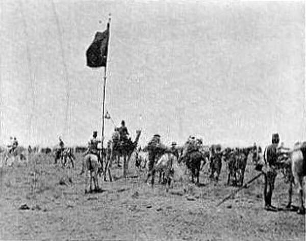 The Khalifa's Black Flag captured in the Battle of Omdurman on 2nd September 1898 in the Sudanese War