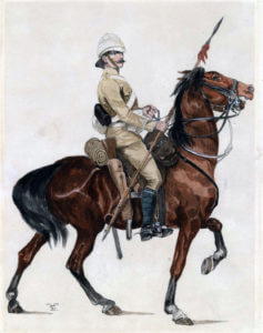 Trooper of the 21st Lancers: Battle of Omdurman on 2nd September 1898 in the Sudanese War
