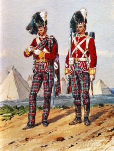 72nd Highlanders, the Duke of Albany's Own, in Home Service Dress: Battle of Peiwar Kotal on 2nd December 1878 in the Second Afghan War: picture by Orlando Norie