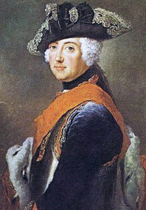Frederick II, King of Prussia, commander of the Prussian Army at the Battle of Hohenfriedberg 4th June 1745 in the Second Silesian War